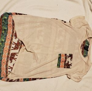 Rue 21 Elephant high-low sheer back shirt